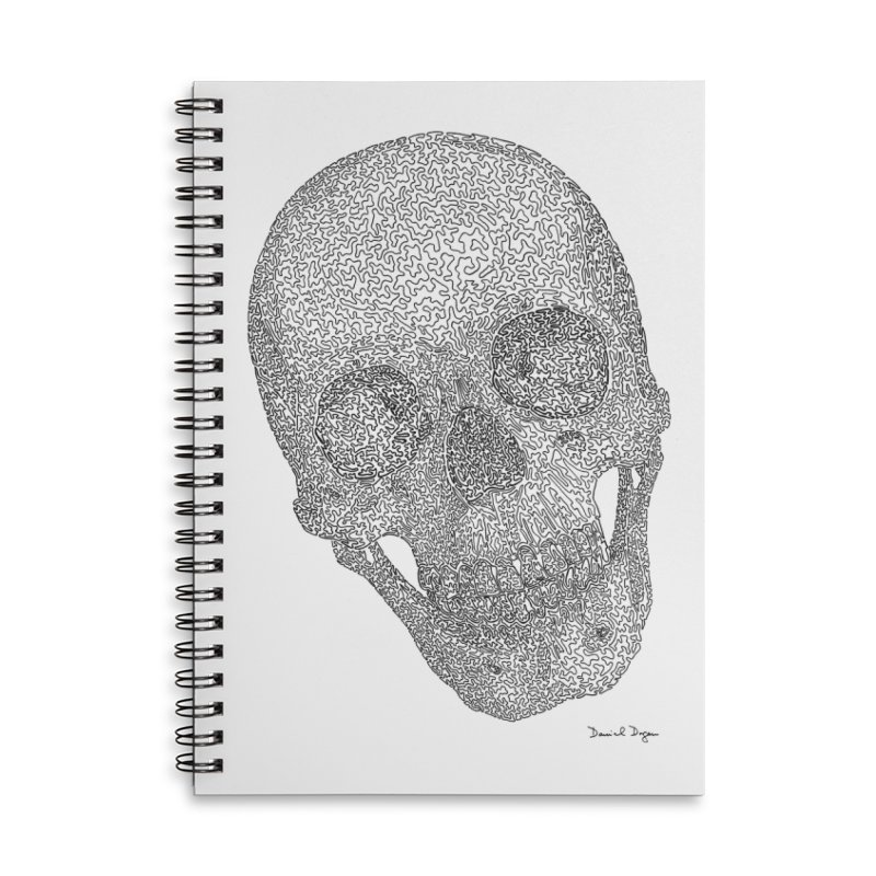 Skull Cocked Accessories Lined Spiral Notebook by Daniel Dugan's Artist Shop