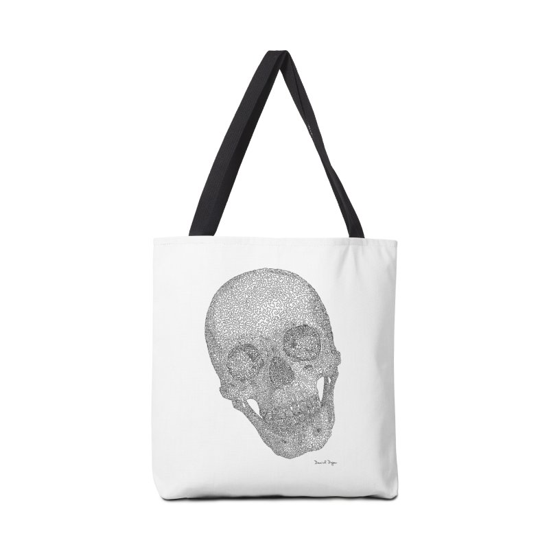 Skull Cocked Accessories Tote Bag Bag by Daniel Dugan's Artist Shop