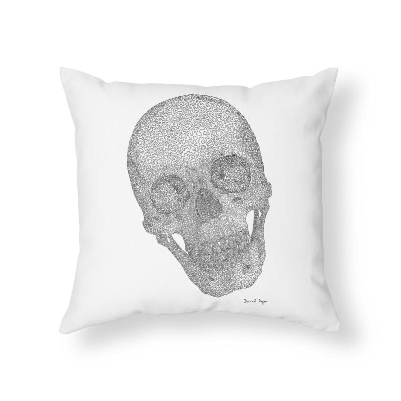 Skull Cocked Home Throw Pillow by Daniel Dugan's Artist Shop