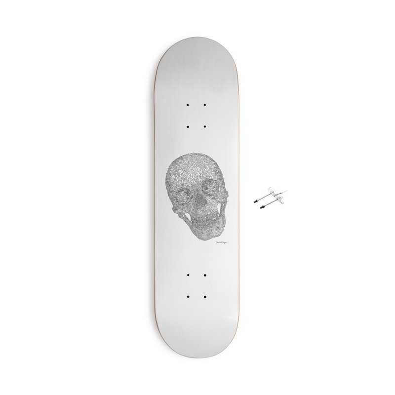 Skull Cocked Accessories With Hanging Hardware Skateboard by Daniel Dugan's Artist Shop