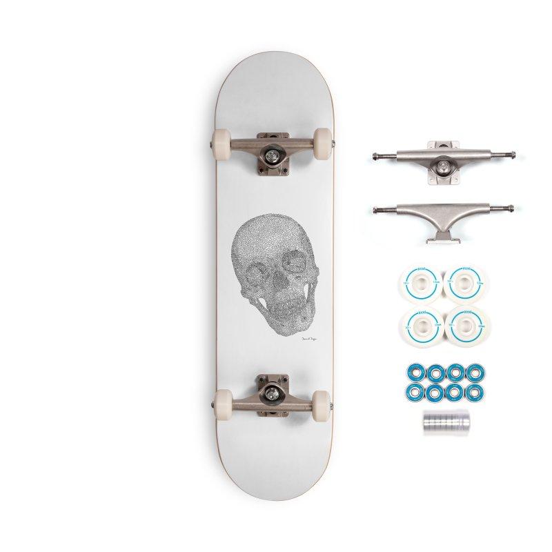 Skull Cocked Accessories Complete - Basic Skateboard by Daniel Dugan's Artist Shop