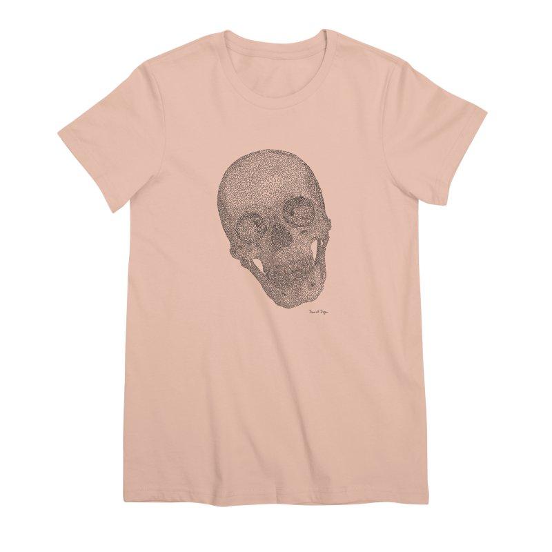 Skull Cocked Women's Premium T-Shirt by Daniel Dugan's Artist Shop