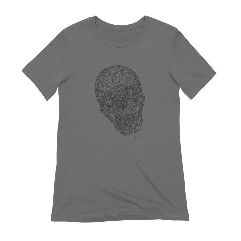 Skull Cocked Women's Extra Soft T-Shirt by Daniel Dugan's Artist Shop