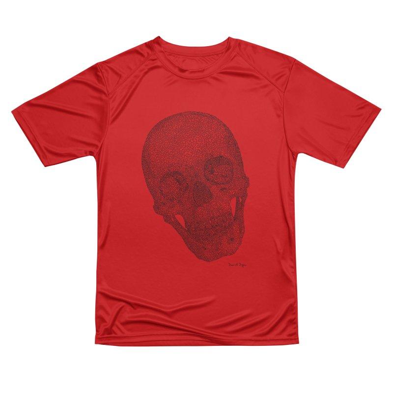 Skull Cocked Women's Performance Unisex T-Shirt by Daniel Dugan's Artist Shop