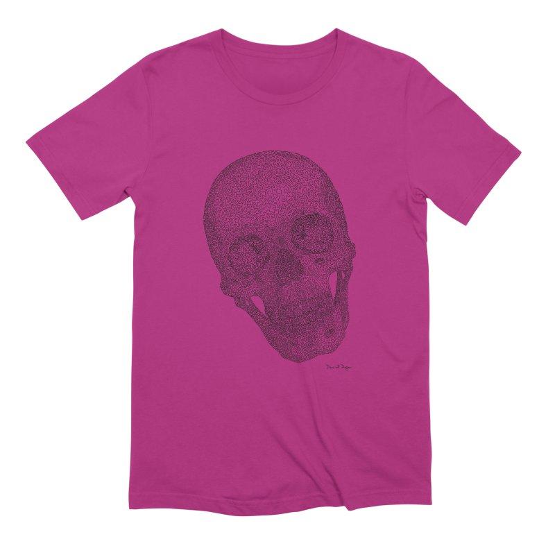 Skull Cocked Men's Extra Soft T-Shirt by Daniel Dugan's Artist Shop