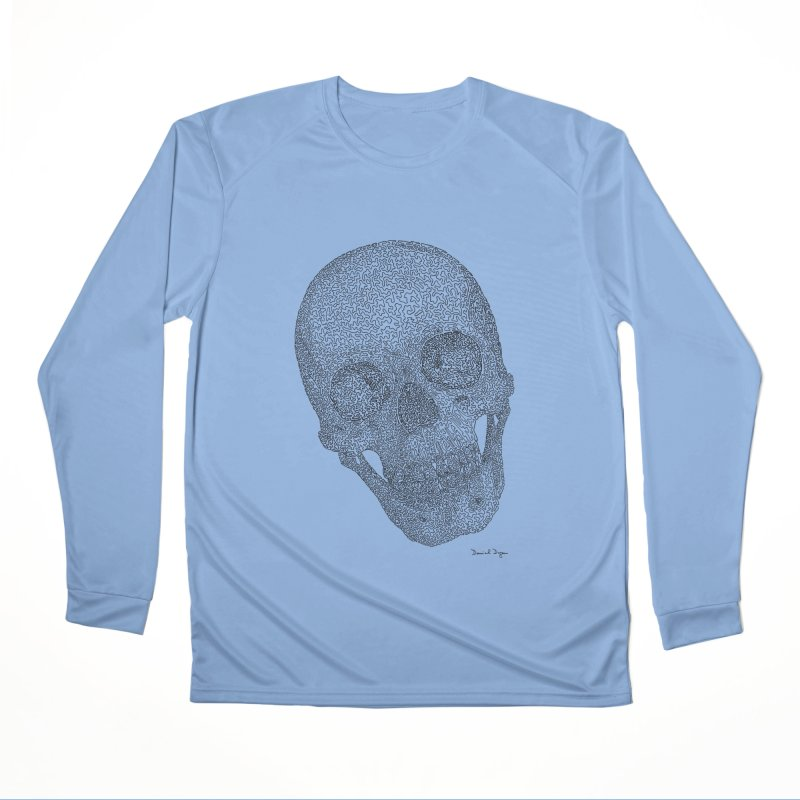 Skull Cocked Women's Performance Unisex Longsleeve T-Shirt by Daniel Dugan's Artist Shop
