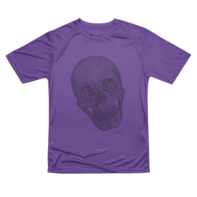 Skull Cocked Men's Performance T-Shirt by Daniel Dugan's Artist Shop