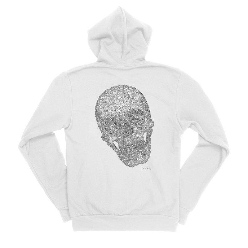 Skull Cocked Men's Sponge Fleece Zip-Up Hoody by Daniel Dugan's Artist Shop