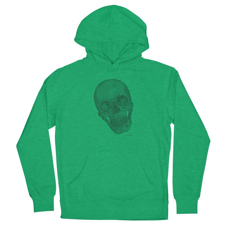 Skull Cocked Women's French Terry Pullover Hoody by Daniel Dugan's Artist Shop