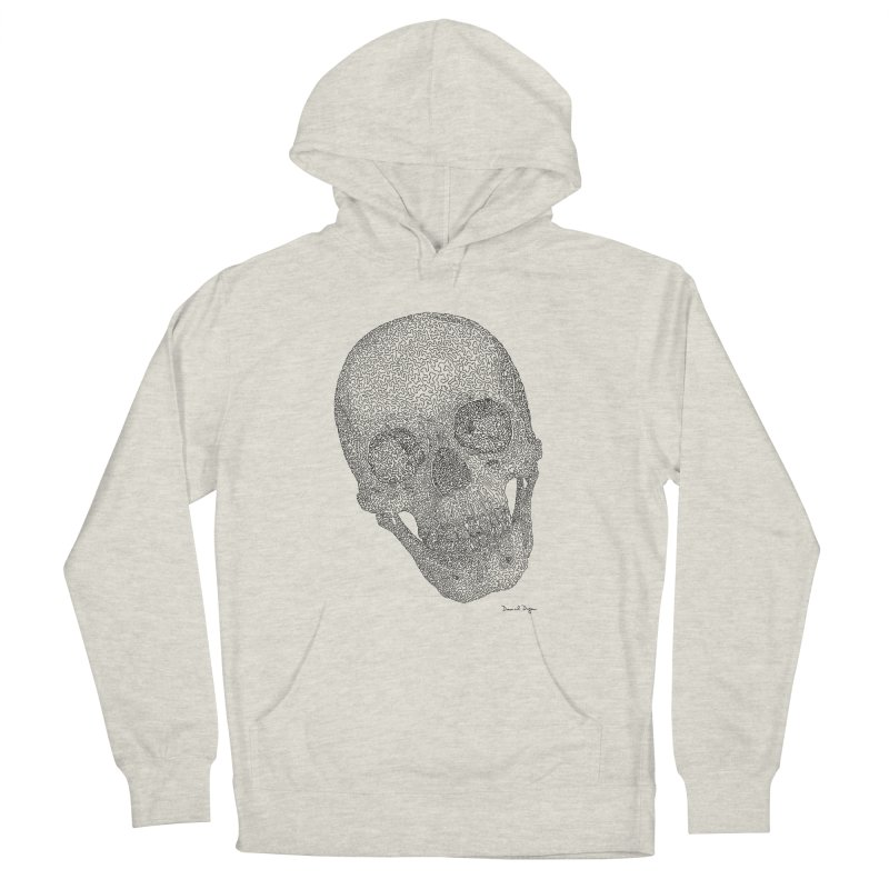 Skull Cocked Men's French Terry Pullover Hoody by Daniel Dugan's Artist Shop