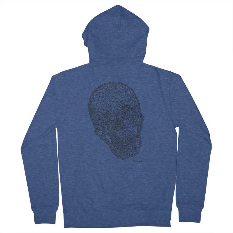 Skull Cocked Men's French Terry Zip-Up Hoody by Daniel Dugan's Artist Shop
