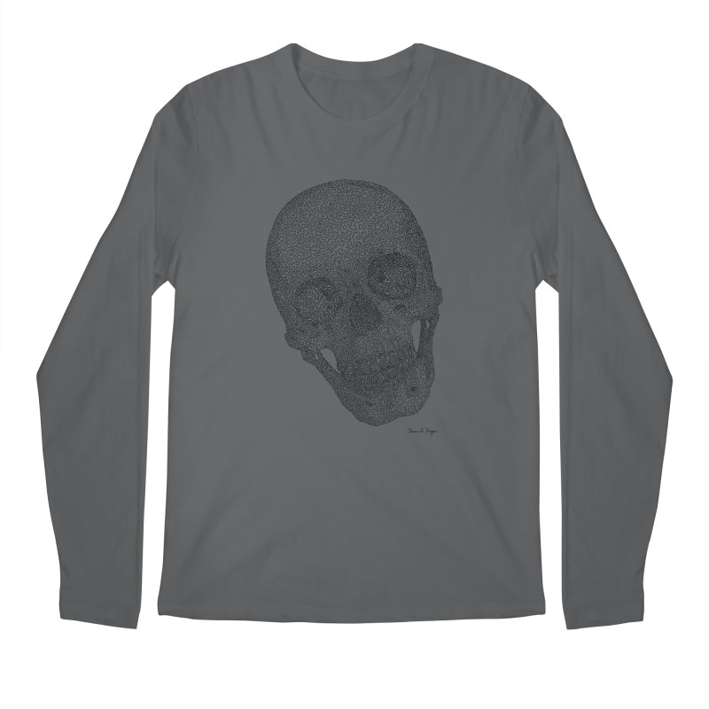 Skull Cocked Men's Longsleeve T-Shirt by Daniel Dugan's Artist Shop
