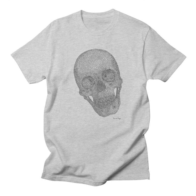 Skull Cocked Men's Regular T-Shirt by Daniel Dugan's Artist Shop