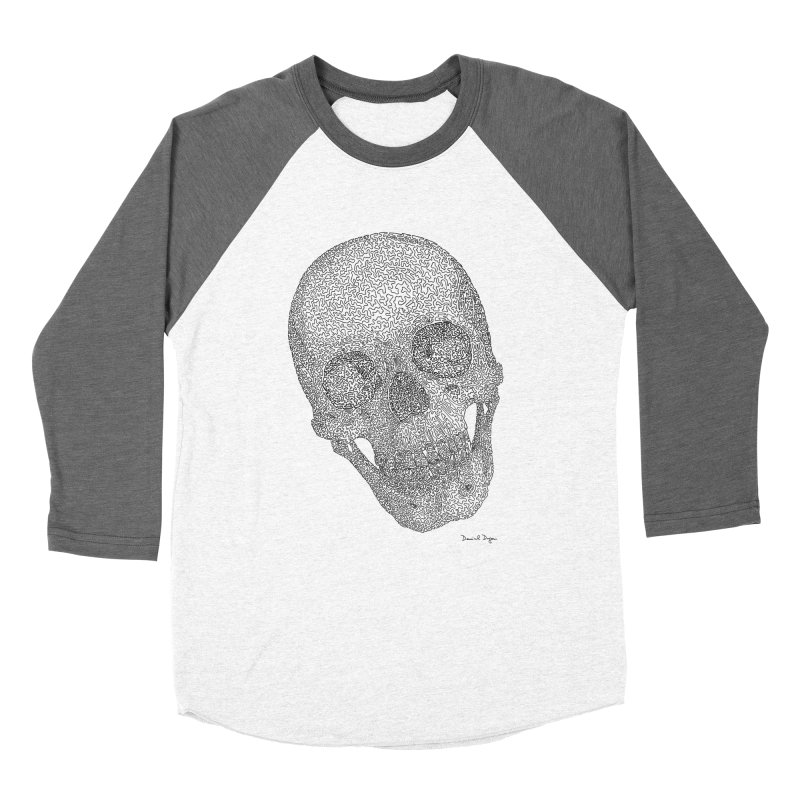 Skull Cocked Women's Baseball Triblend Longsleeve T-Shirt by Daniel Dugan's Artist Shop