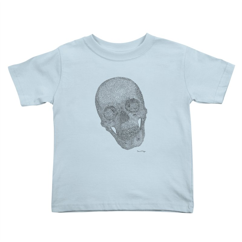 Skull Cocked Kids Toddler T-Shirt by Daniel Dugan's Artist Shop