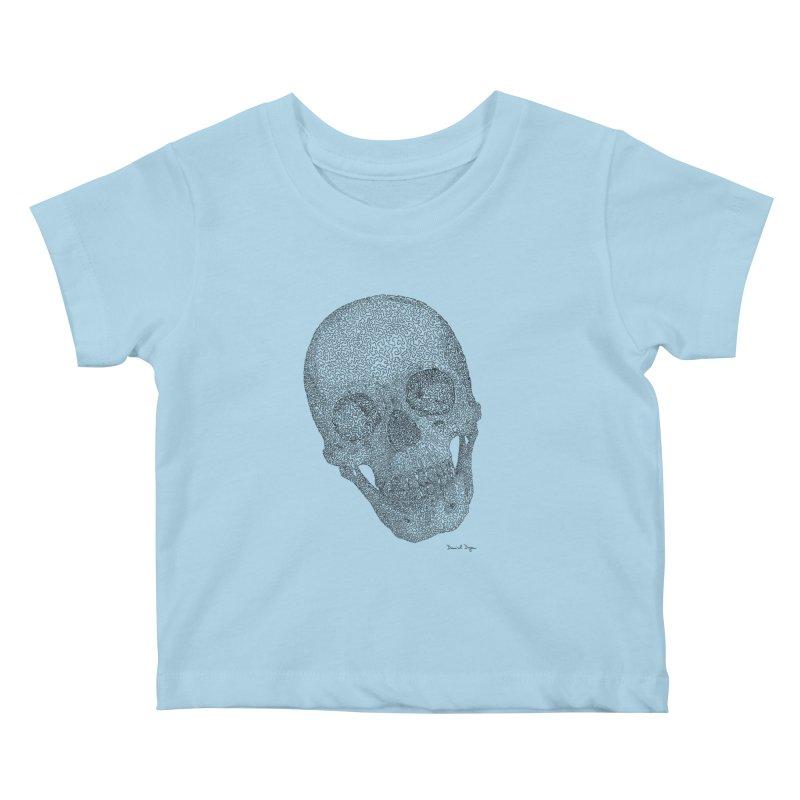 Skull Cocked Kids Baby T-Shirt by Daniel Dugan's Artist Shop