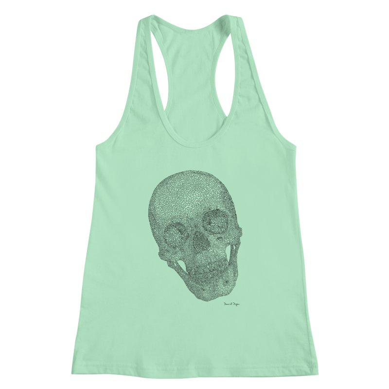 Skull Cocked Women's Racerback Tank by Daniel Dugan's Artist Shop
