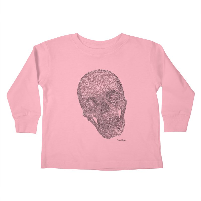 Skull Cocked Kids Toddler Longsleeve T-Shirt by Daniel Dugan's Artist Shop