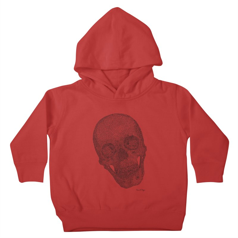 Skull Cocked Kids Toddler Pullover Hoody by Daniel Dugan's Artist Shop