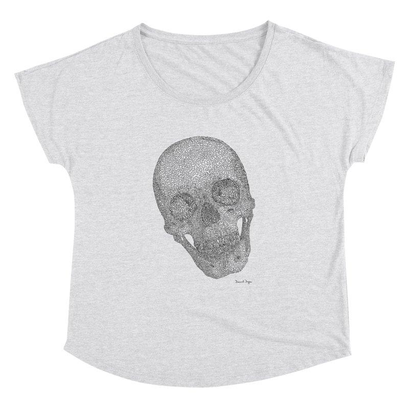 Skull Cocked Women's Dolman Scoop Neck by Daniel Dugan's Artist Shop