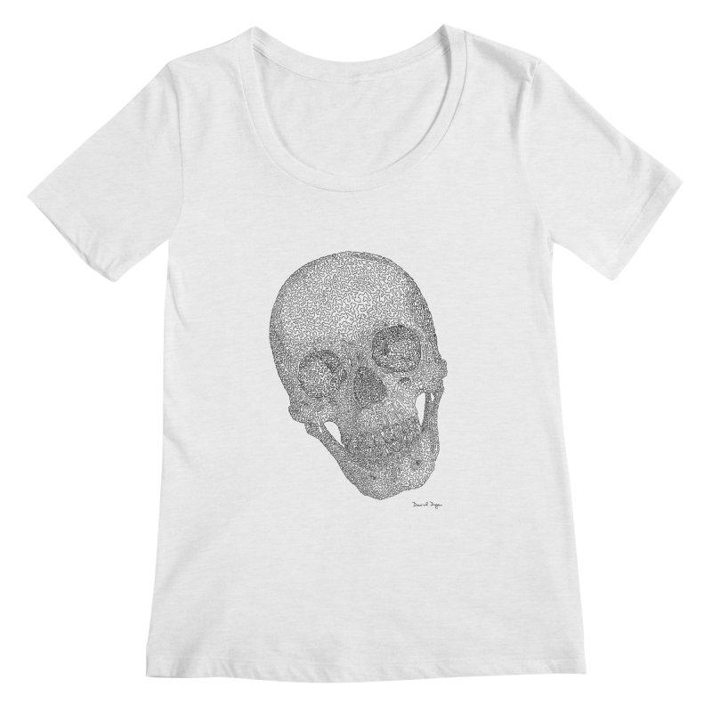 Skull Cocked Women's Regular Scoop Neck by Daniel Dugan's Artist Shop