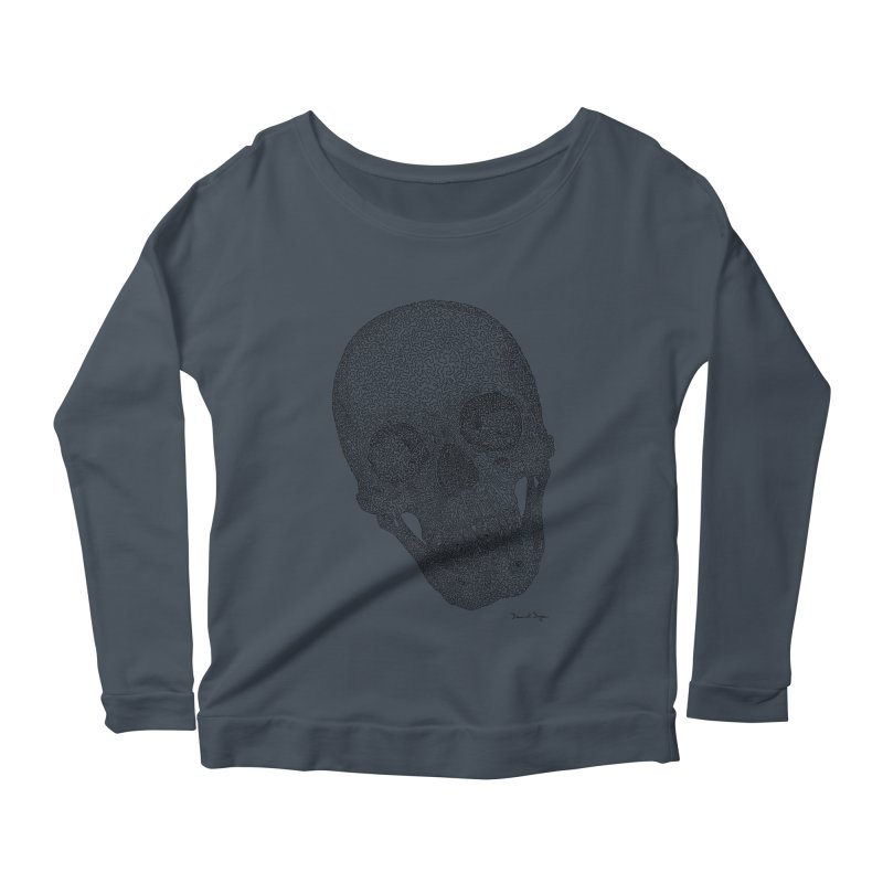 Skull Cocked Women's Scoop Neck Longsleeve T-Shirt by Daniel Dugan's Artist Shop