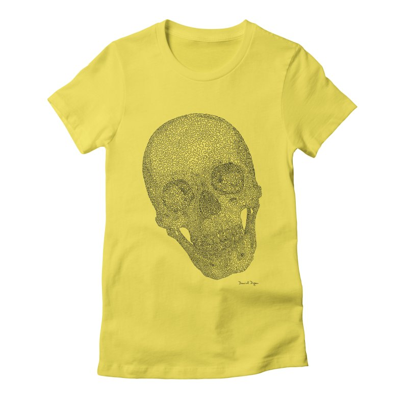 Skull Cocked Women's Fitted T-Shirt by Daniel Dugan's Artist Shop