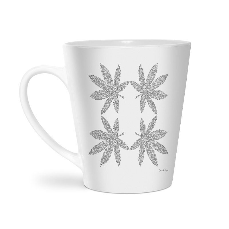 Flower Power Accessories Latte Mug by Daniel Dugan's Artist Shop