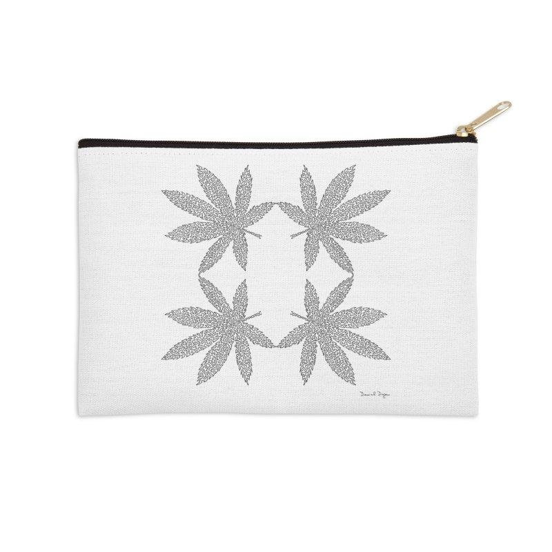 Flower Power Accessories Zip Pouch by Daniel Dugan's Artist Shop