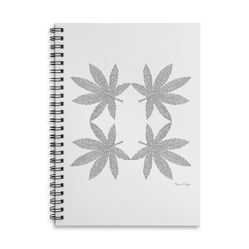 Flower Power Accessories Lined Spiral Notebook by Daniel Dugan's Artist Shop