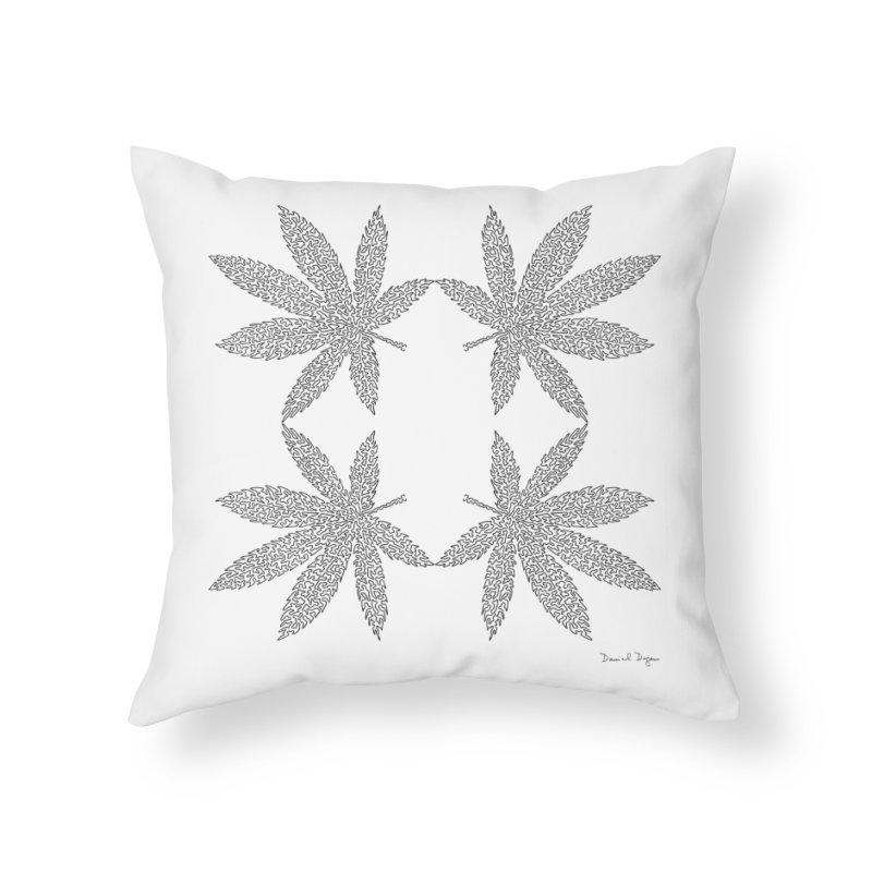 Flower Power Home Throw Pillow by Daniel Dugan's Artist Shop