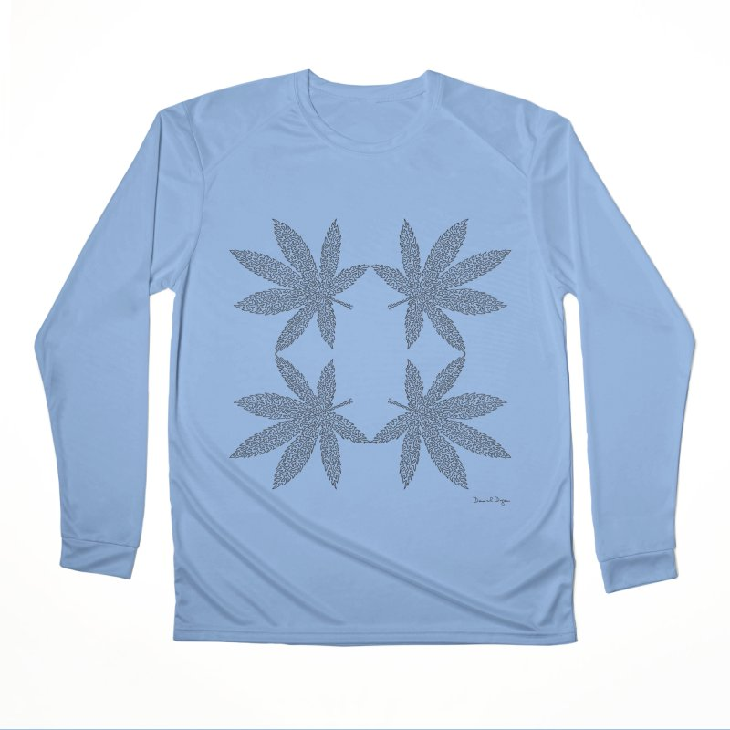 Flower Power Men's Performance Longsleeve T-Shirt by Daniel Dugan's Artist Shop