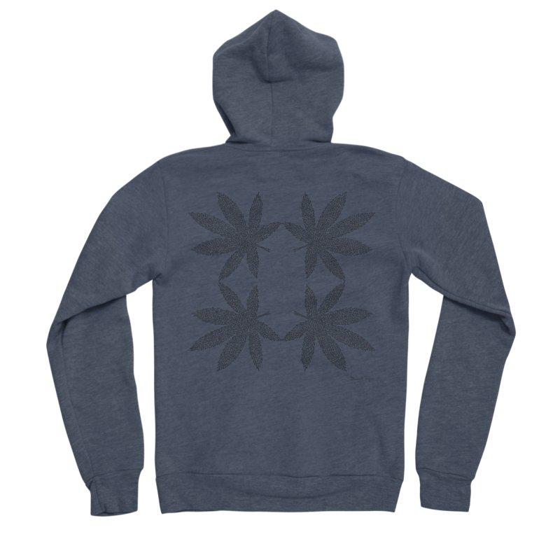 Flower Power Men's Sponge Fleece Zip-Up Hoody by Daniel Dugan's Artist Shop