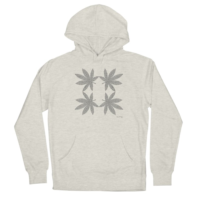 Flower Power Men's French Terry Pullover Hoody by Daniel Dugan's Artist Shop