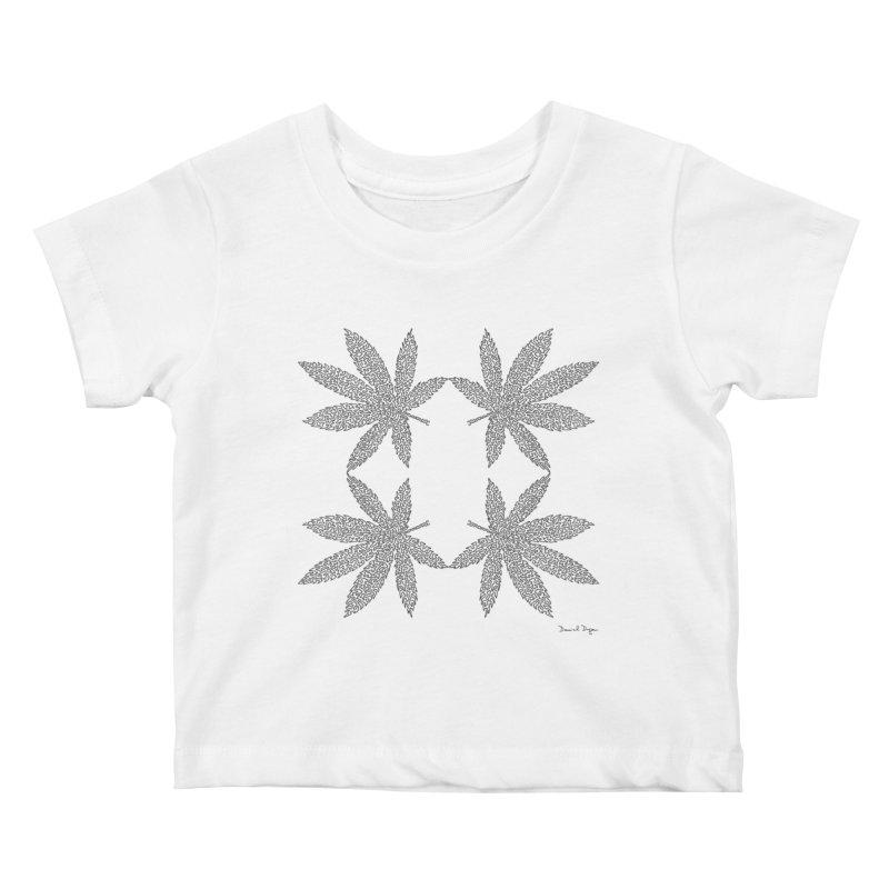 Flower Power Kids Baby T-Shirt by Daniel Dugan's Artist Shop