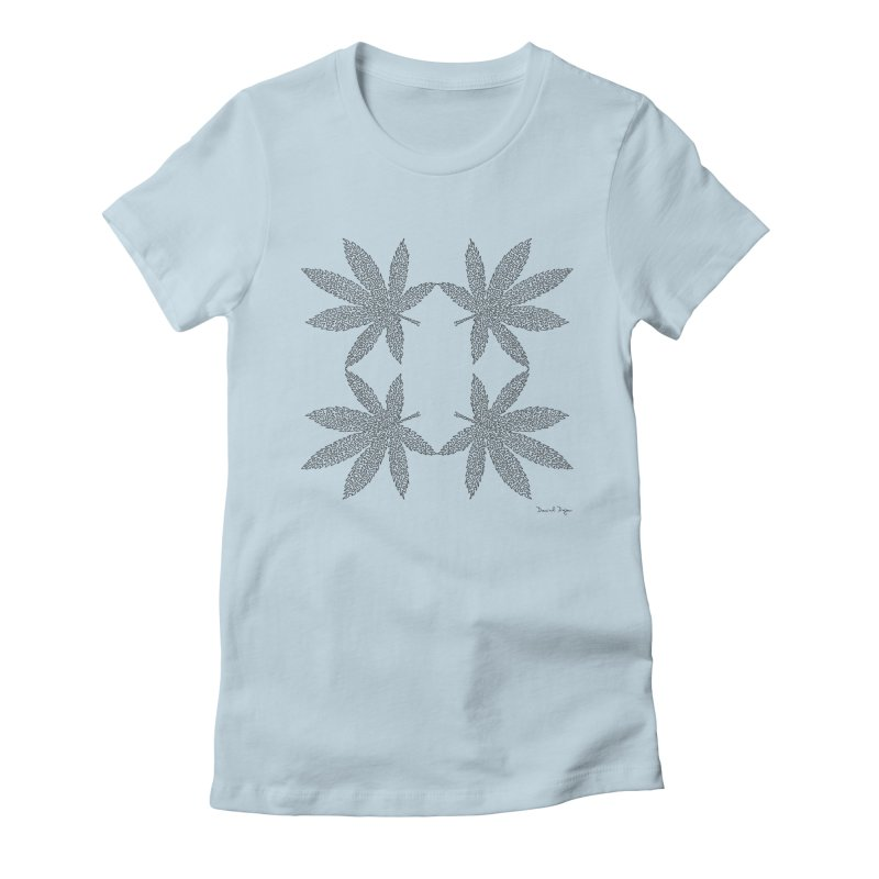 Flower Power Women's Fitted T-Shirt by Daniel Dugan's Artist Shop