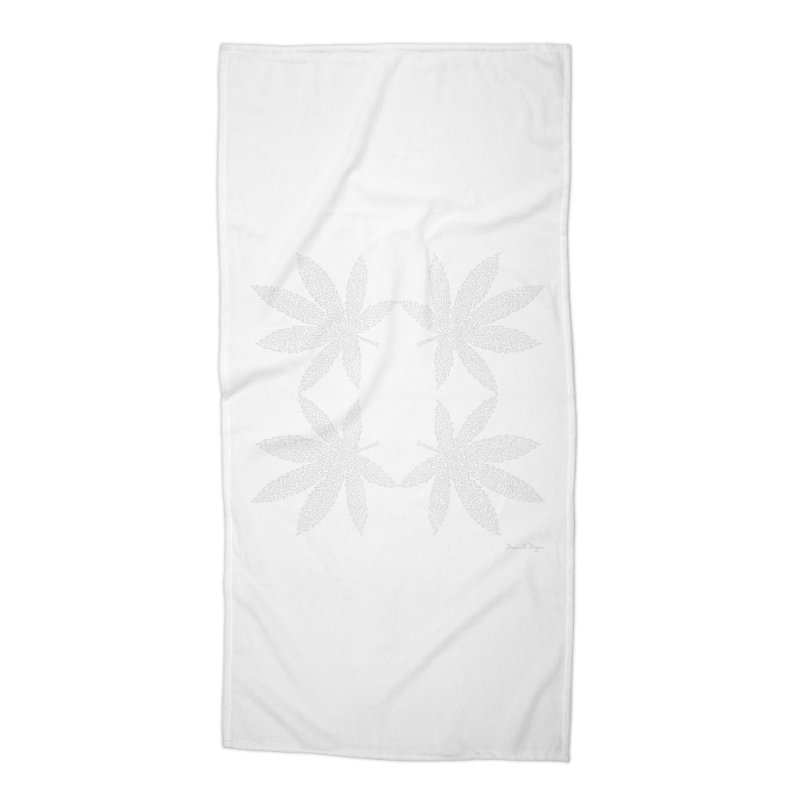 Flower Power (For Dark Background) Accessories Beach Towel by Daniel Dugan's Artist Shop