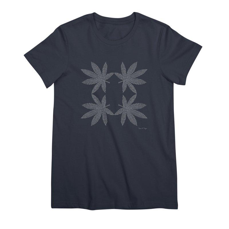Flower Power (For Dark Background) Women's Premium T-Shirt by Daniel Dugan's Artist Shop