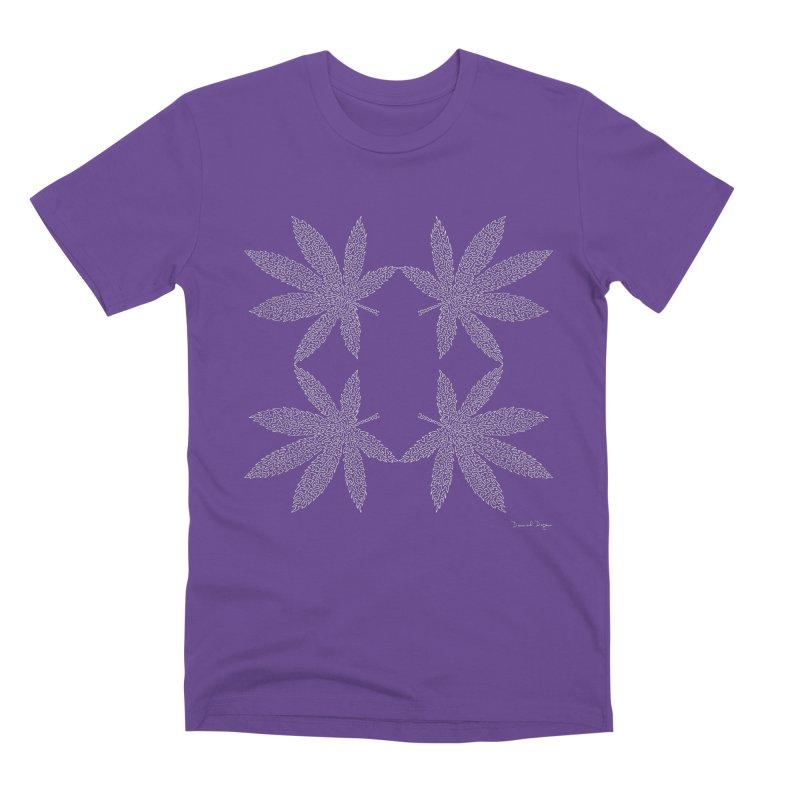 Flower Power (For Dark Background) Men's Premium T-Shirt by Daniel Dugan's Artist Shop