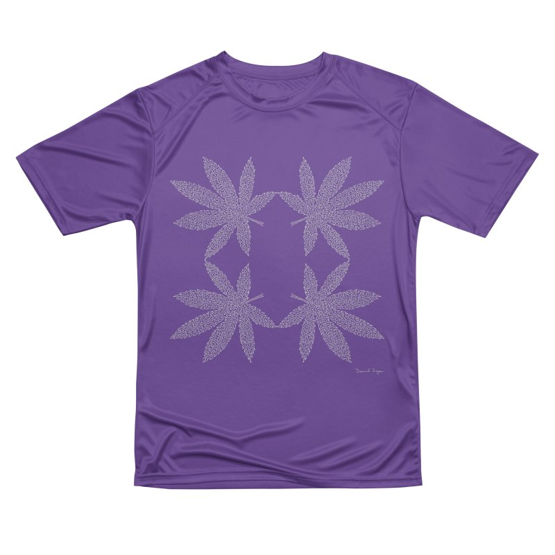 Flower Power (For Dark Background) Women's Performance Unisex T-Shirt by Daniel Dugan's Artist Shop
