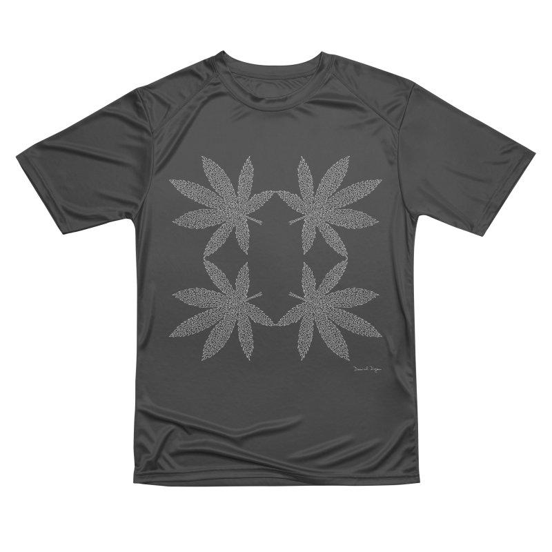 Flower Power (For Dark Background) Men's Performance T-Shirt by Daniel Dugan's Artist Shop