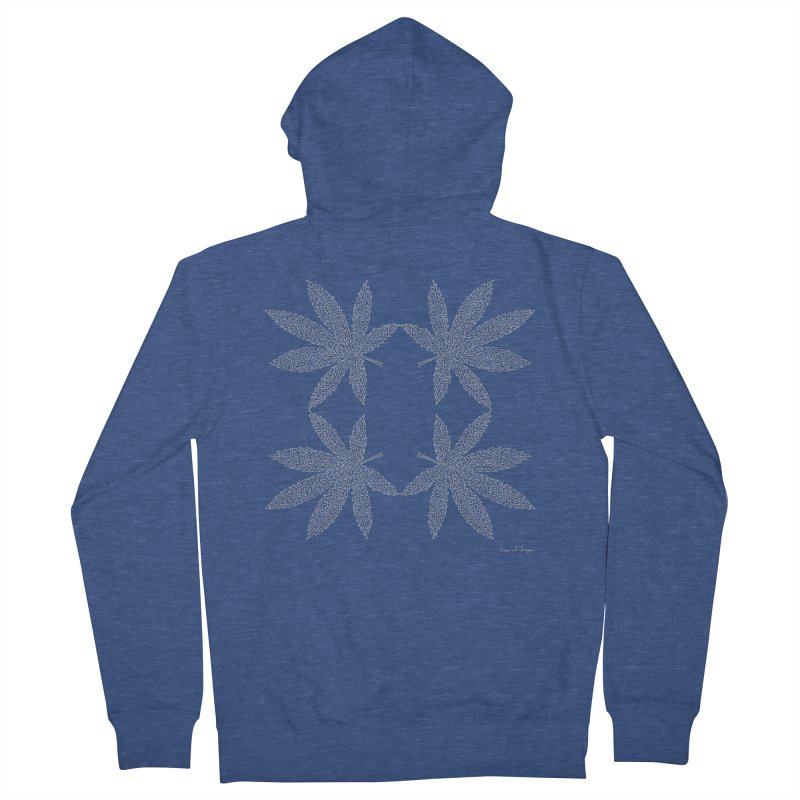 Flower Power (For Dark Background) Men's French Terry Zip-Up Hoody by Daniel Dugan's Artist Shop