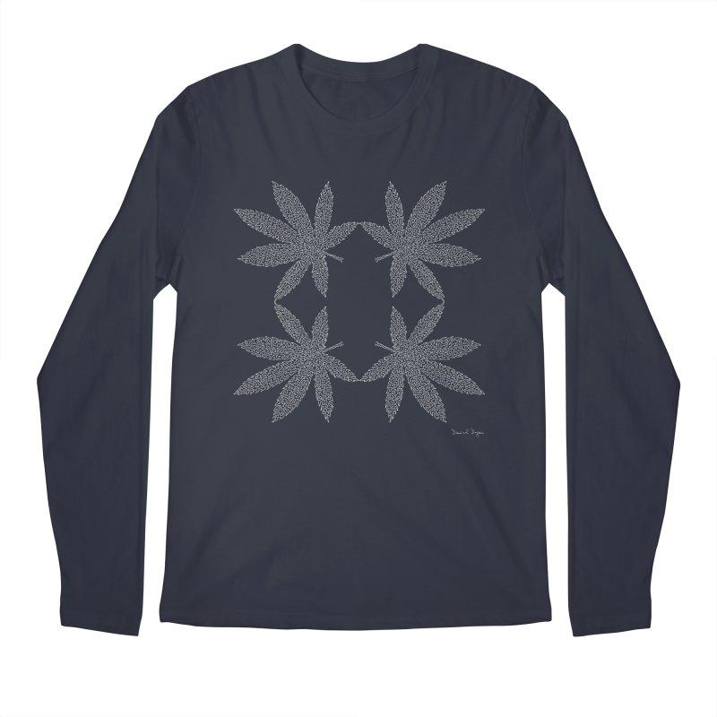 Flower Power (For Dark Background) Men's Regular Longsleeve T-Shirt by Daniel Dugan's Artist Shop