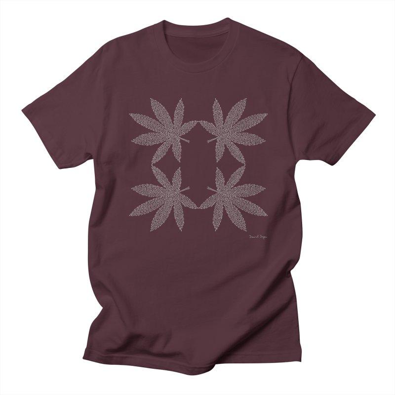 Flower Power (For Dark Background) Men's Regular T-Shirt by Daniel Dugan's Artist Shop