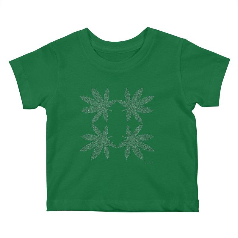 Flower Power (For Dark Background) Kids Baby T-Shirt by Daniel Dugan's Artist Shop