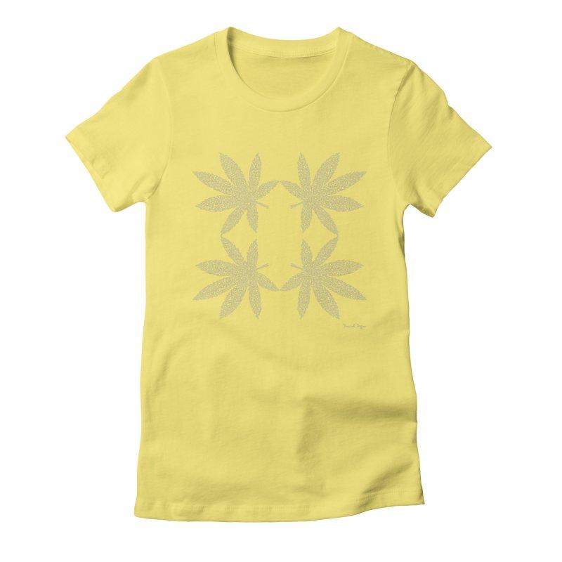 Flower Power (For Dark Background) Women's Fitted T-Shirt by Daniel Dugan's Artist Shop