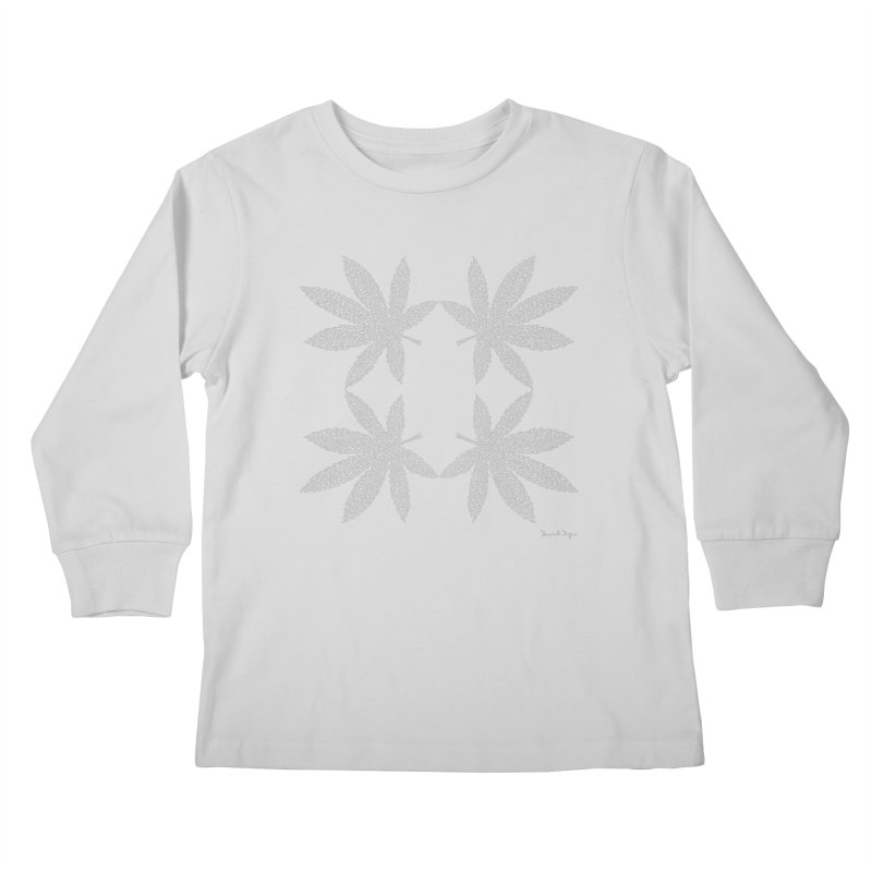 Flower Power (For Dark Background) Kids Longsleeve T-Shirt by Daniel Dugan's Artist Shop
