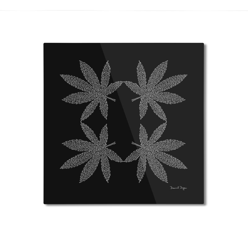 Flower Power (For Dark Background) Home Mounted Aluminum Print by Daniel Dugan's Artist Shop