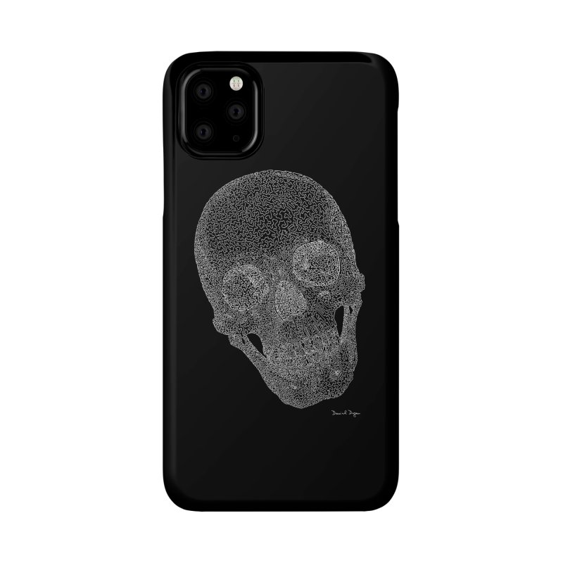 Skull Cocked (For Dark Background) Accessories Phone Case by Daniel Dugan's Artist Shop
