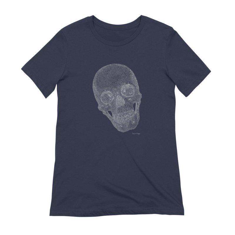 Skull Cocked (For Dark Background) Women's Extra Soft T-Shirt by Daniel Dugan's Artist Shop